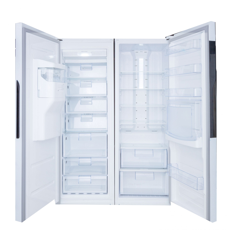 نمای داخلی یخچال فریزر دوقلو هیمالیا مدل آلفا