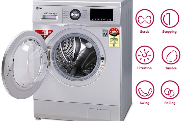 فناوری 6motion ماشین لباسشویی ال جی